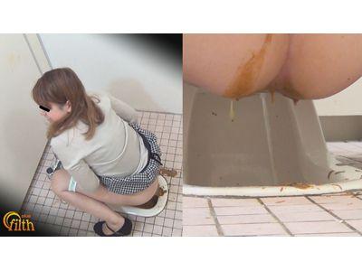 公衆トイレ盗撮 ぶちまけ!うんこ漏らし大失態